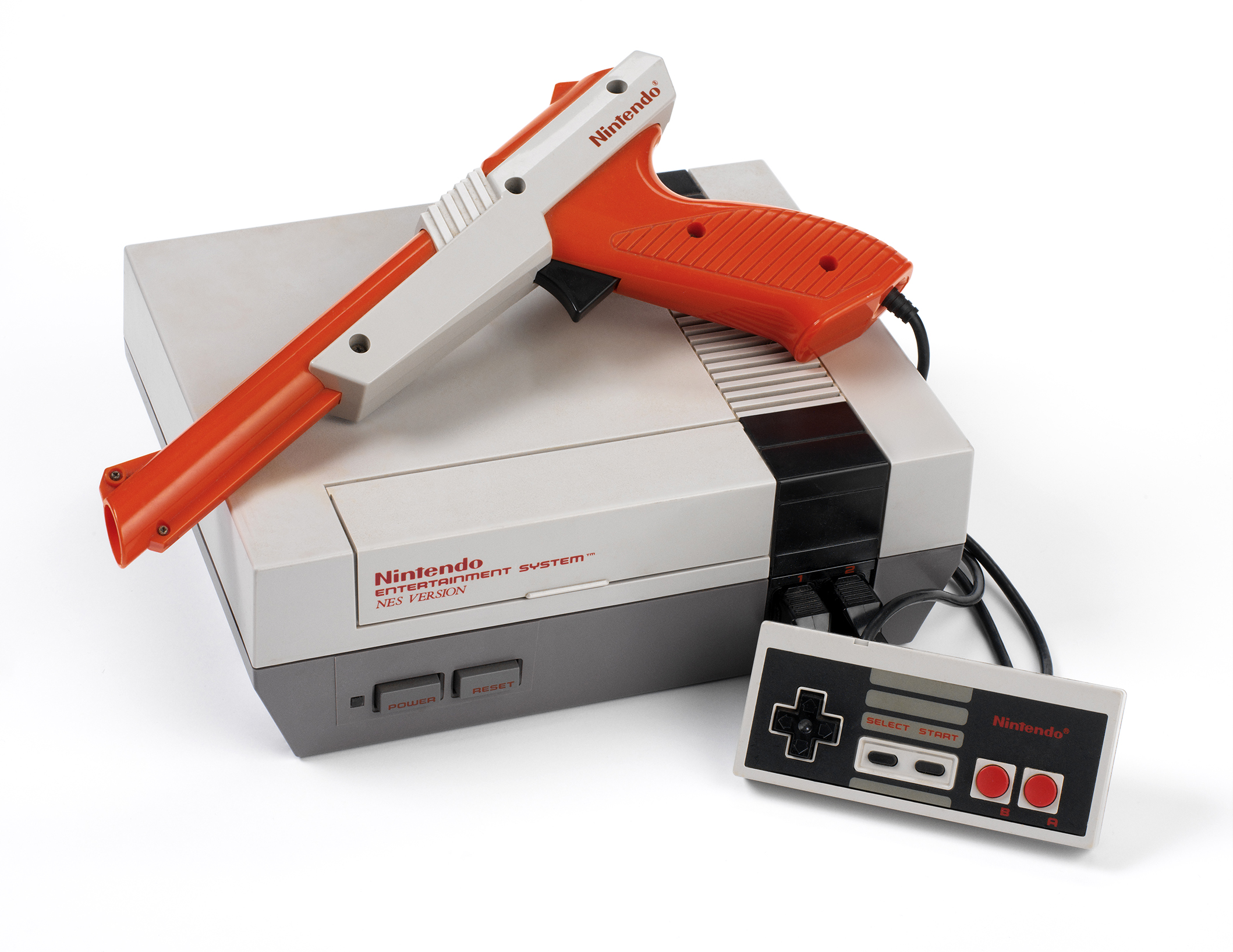 The NES, a home video game console by Nintendo