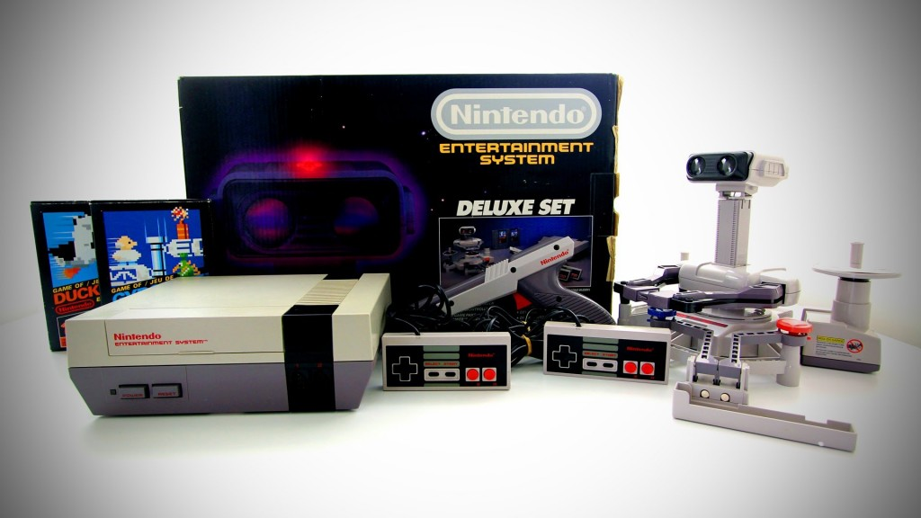 Deluxe Set packaging for the NES, a home video game console by Nintendo