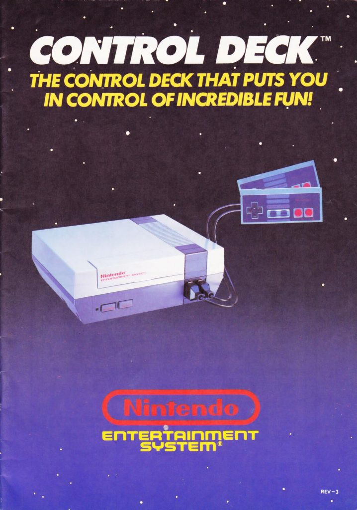 Manual for the Nintendo NES video game system