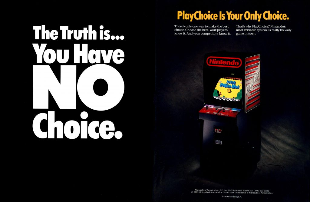 Video arcade game system PlayChoice, by Nintendo