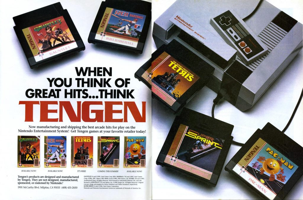 Tengen, an home video game maker for the NES