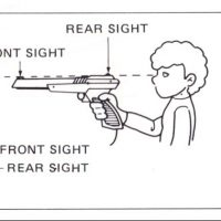 Manual instructions for the Zapper, a light gun for the NES
