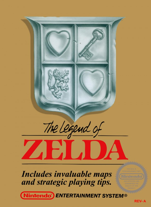 Box art for The Legend of Zelda, a home video game by Nintendo