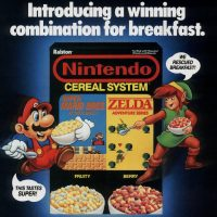Cereal featuring video game characters by Nintendo
