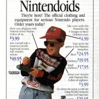 Ad for clothes branded by Nintendo, a home video game company
