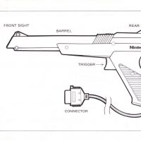 Specs for the Zapper light gun for the Nintendo NES