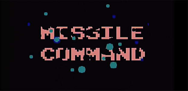 Title screen for Missile Command, an arcade game by Atari 1980