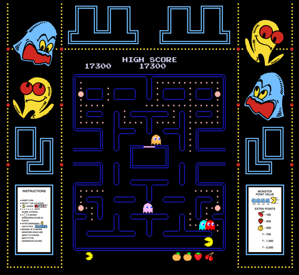 Pac-Man, an arcade video game by Namco