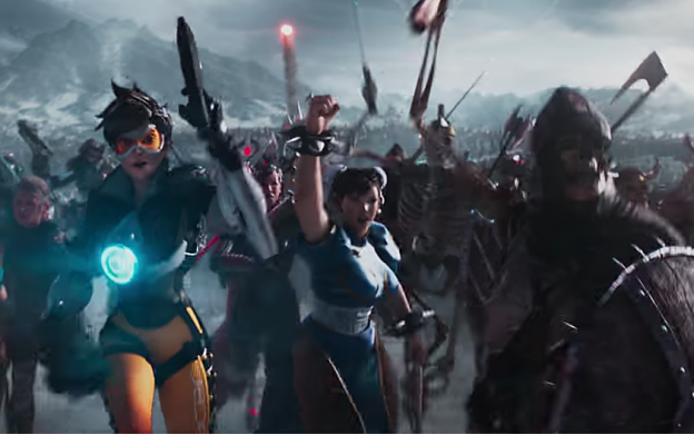 Image from the trailer for video game movie Ready Player One