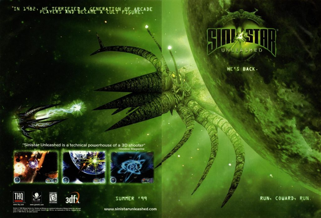 Sinistar Unleashed, a video game for Windows