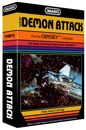 Demon Attack, an Imagic video game for the Odyssey² game console