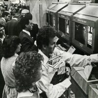 1985 CES booth for Activision video game company