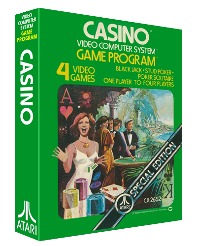 Casino, a video game by Bob Whitehead at Atari for the VCS video game console