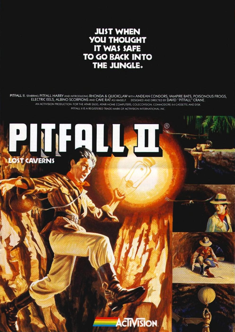 Pitfall II: Lost Caverns, an Activision game for video game consoles and home computers
