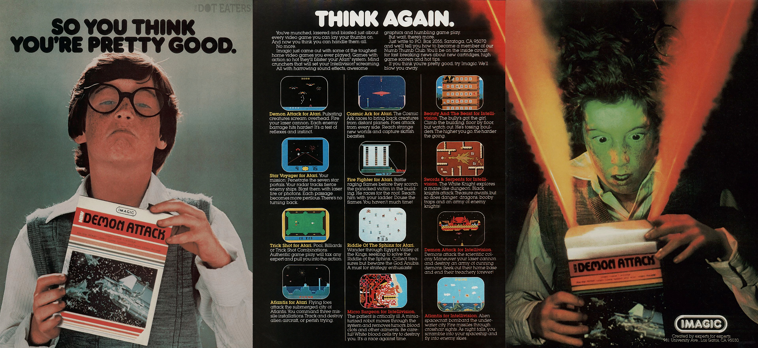 Ad for Imagic, a video game company
