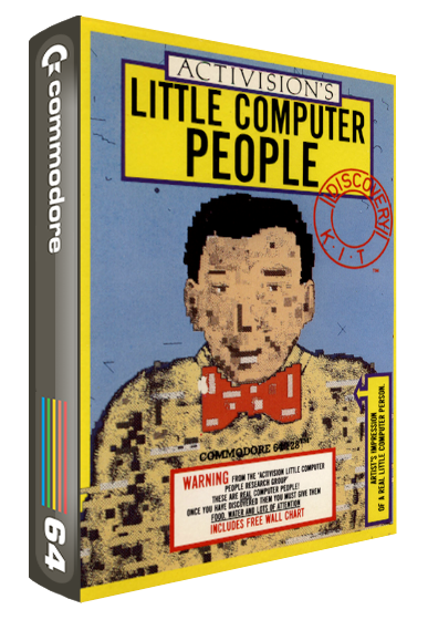 Little Computer People, a simulation computer game for your Commodore 64 home computer