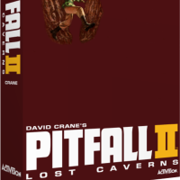 Pitfall II: Lost Caverns, a video game for the Atari 5200 video game console