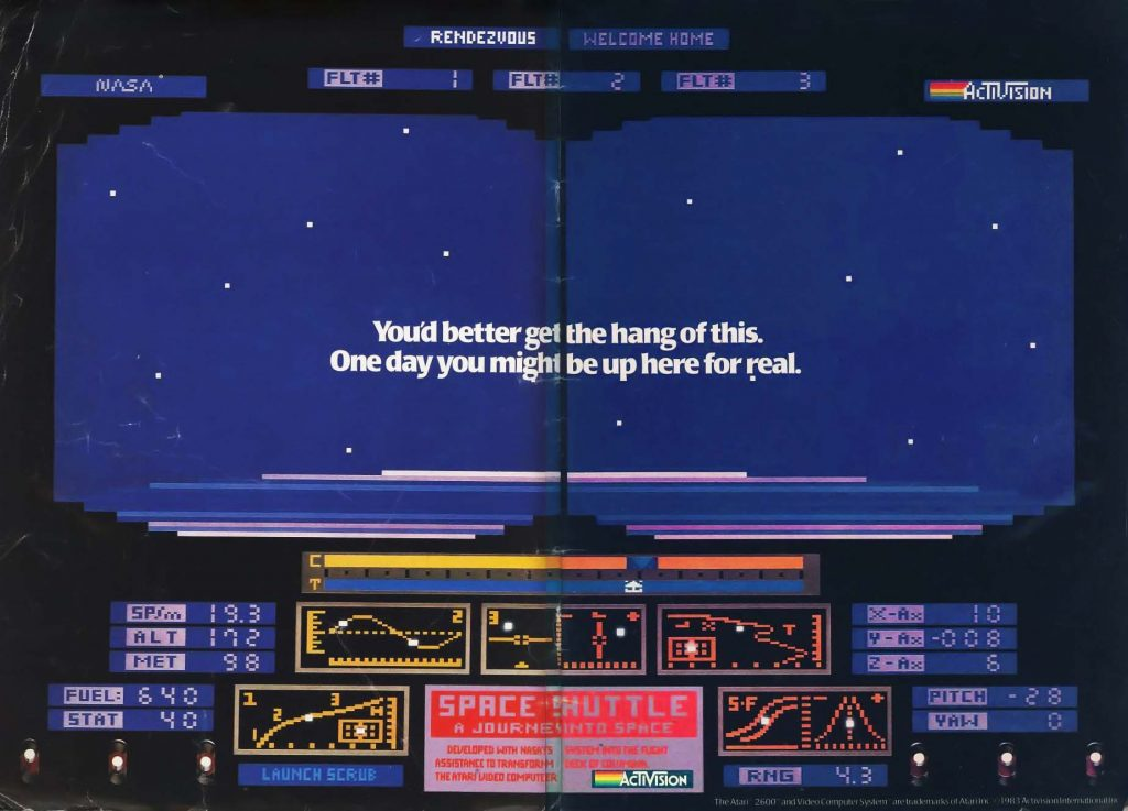 Space Shuttle: A Journey into Space, by Steve Kitchen for the Atari 2600 video game console